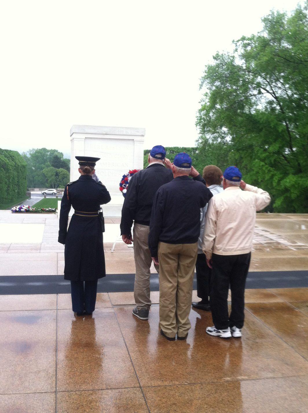 Kansas Honor Flight veterans at Arlington National Cemetery