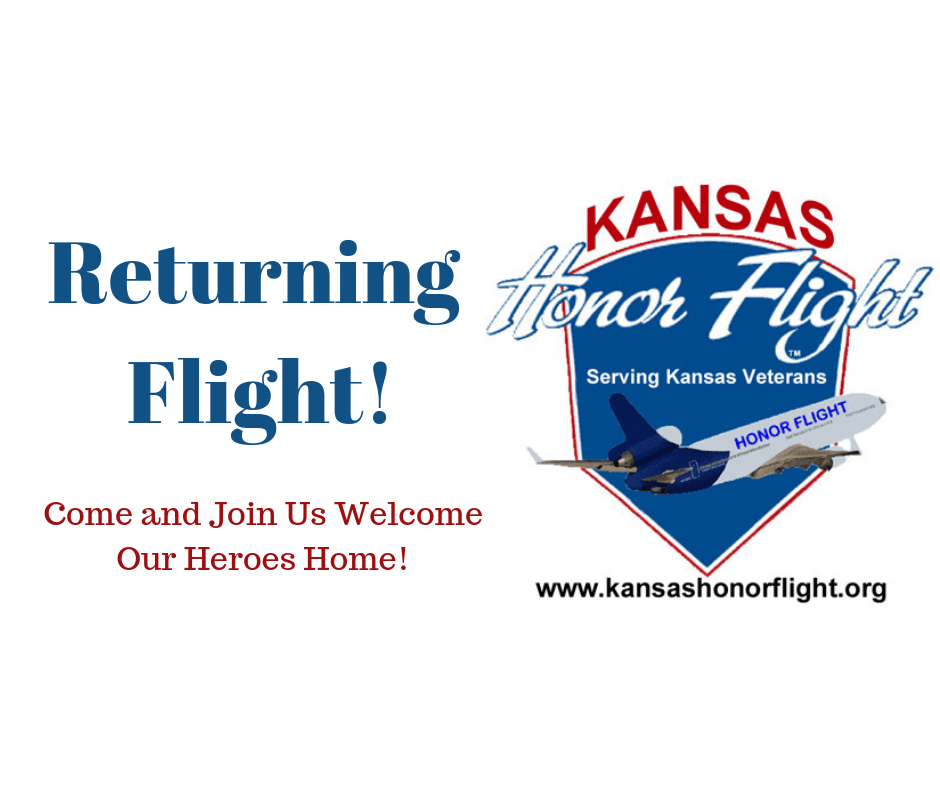 Returning Flight for the Kansas Honor Flight