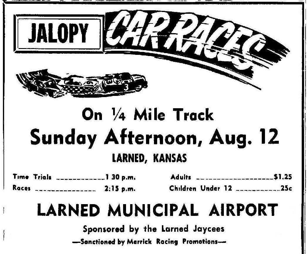 Jalopy Races At Jaycee Speedway Larned Ks On August 12