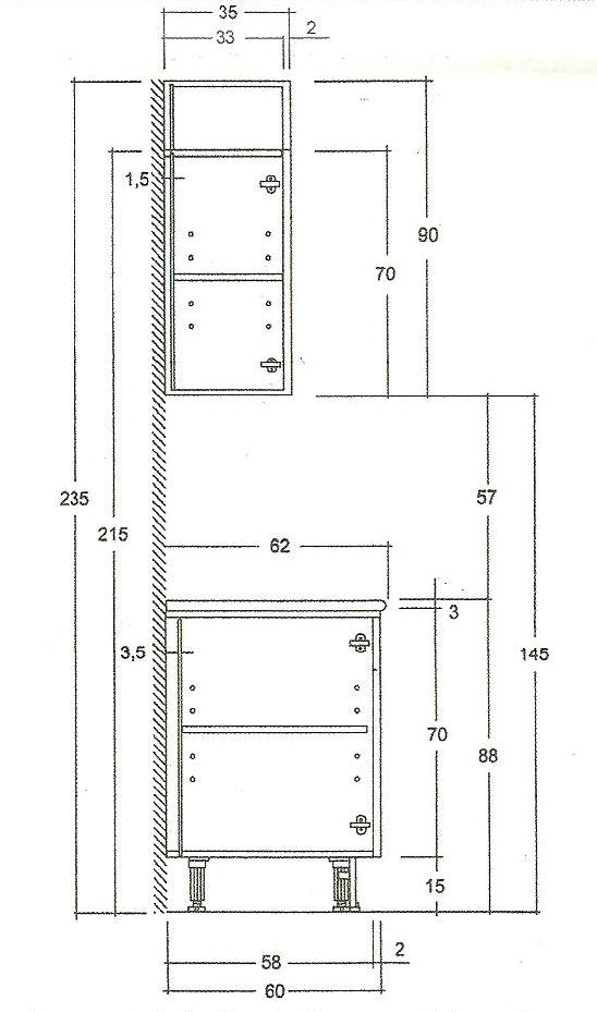 Las Medidas De Los Muebles De Cocina Kansei Cocinas