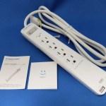 USBポートも3PコンセントもOK「電源タップ USB充電ポート付 4 ACコンセント 2 USBポート 雷ガード搭載/Poweradd」レビュー