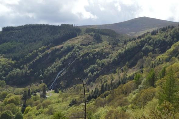 view of Powerscourt waterfall