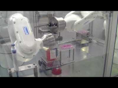 [DAIHEN] 6軸クリーンロボットによる培地交換作業の自動化