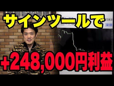 FX自動売買サインツールで+248,000円の利益!