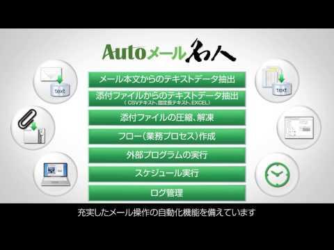 メール操作を自動化するRPAソリューション「Autoメール名人」