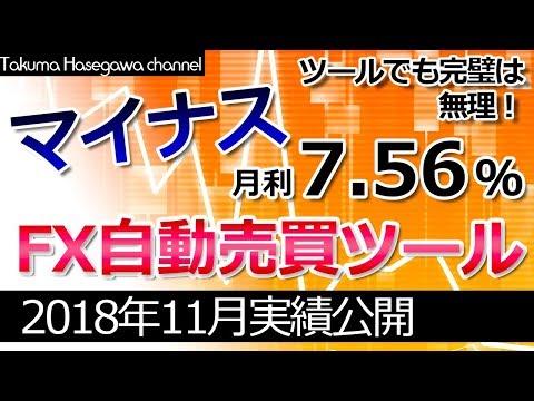 FX自動売買ツール実績公開【2018.11】~マイナス発生!大損するかと思いきや?~