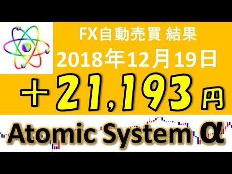 相場が活発化している中で、圧倒的に稼ぐ FX自動売買ツール【Atomic System α】 EA運用成績 2018年12月19結果報告