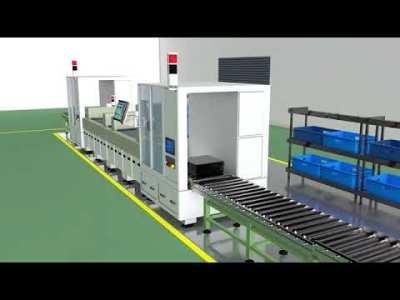 3D 自走車-工廠自動化流程運送_3D建模與配音