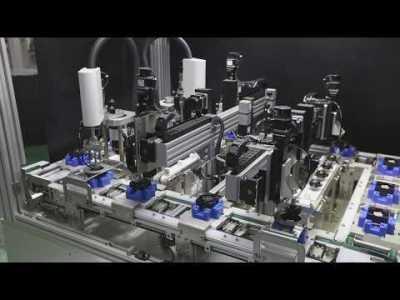 冷却ファン組立自動化デモンストレーション – サーボシステムSANMOTION