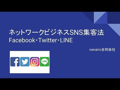 ネットワークビジネスSNS集客法(Facebook・Twitter・LINE)