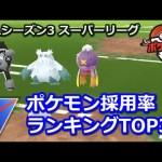 【ポケモンGO】スーパーリーグ採用率ランキングTOP30【GBLシーズン3】