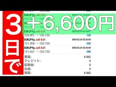 【副業】FX自動売買ツールを買ってみた#3【小遣い稼ぎ】検証します!
