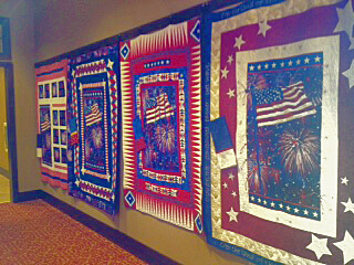 Some of the Quilts of Valor at Jubilee Lodge.
