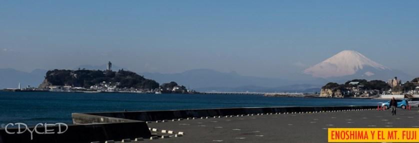Enoshima y el Mt Fuji