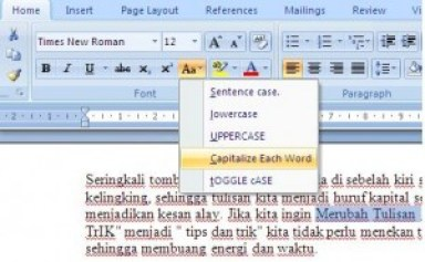 change case di word