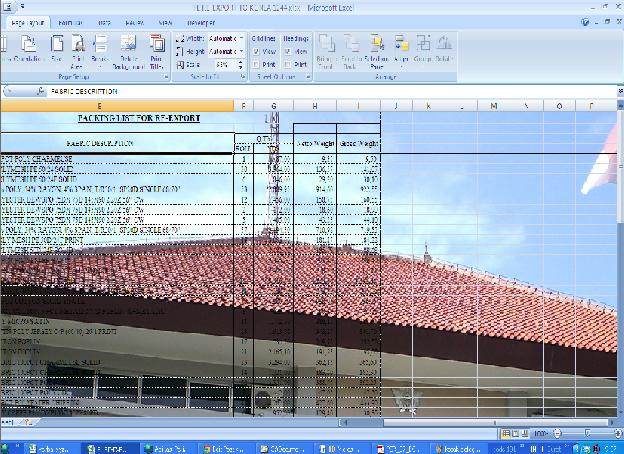 tambah background excel