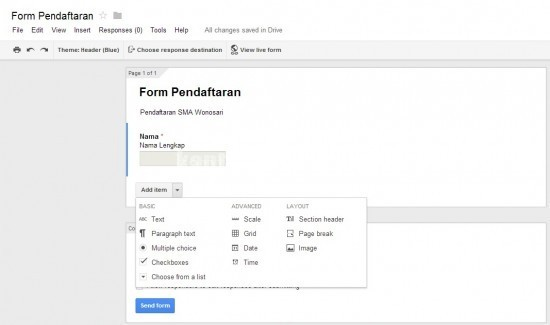 Membuat Google Form 4