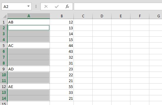 Cara Cepat Copy Sel untuk Mengisi Sel yang Kosong 4