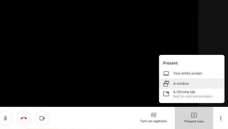 Share Screen Google Meet