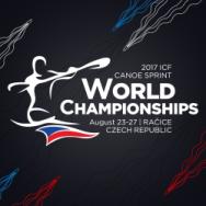logo Kanurennsport WM 2017 Racice Kanu zum Frühstück