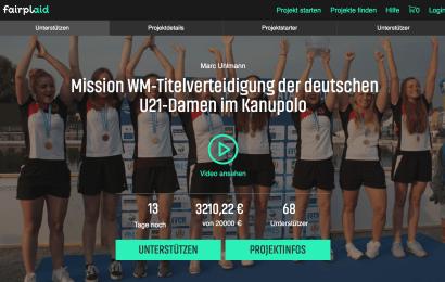 Kanu-Polo-U21-Nationalmannschaft sammelt für WM Teilnahme