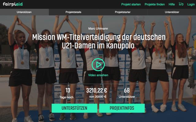 Kanu-Polo U21-Mannschaft braucht Unterstützung für die Reise zur Weltmeisterschaft nach Kanada