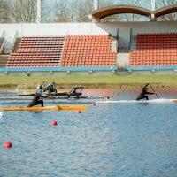 Die Mannschaft für den Kanu-Rennsport Weltcup in Szeged
