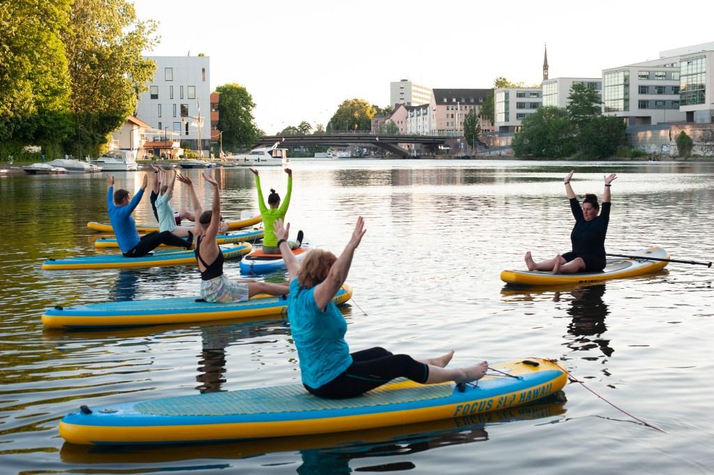 Bericht über SUP & Pilates