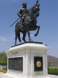 Maharana Pratap Singh riding on Chetak