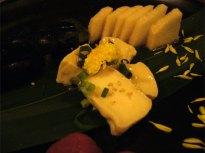 漬物盛合せにはチーズの麹漬けも