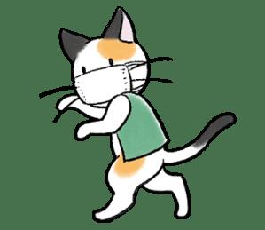 LINEスタンプ 猫 マスク