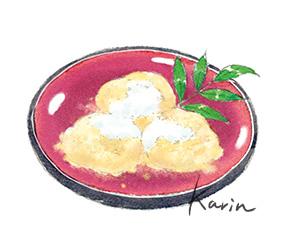 安倍川餅 イラスト