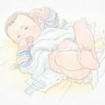 赤ちゃん イラスト オムツ替え