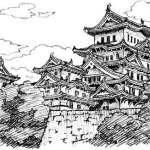 姫路城 イラスト