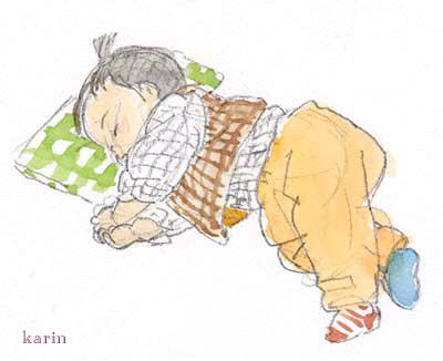 赤ちゃん水彩画3