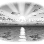 日の出 海 イラスト