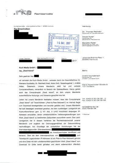 Abmahnung wegen Urheberrechtsverletzung_rka_Rechtsanwälte