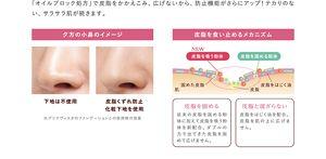 「オイルブロック処方」で皮脂をかかえこみ、広げないから、防止機能がさらにアップ!テカリのない、サラサラ肌が続きます。夕方の小鼻のイメージ 下地は不使用 皮脂くずれ防止化粧下地を使用 ※プリマヴィスタのファンデーションとの併用時の効果 皮脂を食い止めるメカニズム NEW皮脂を吸う粉体 皮脂を固める粉体 肌 固めた皮脂 皮脂 皮脂をはじく油 皮脂を広げない 皮脂吸着パウダーを配合。出てきた皮脂を固めます。皮脂と混ざらない 皮脂をはじく油を配合。皮脂を肌の上に広げません。