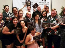 """The cast and crew """"Hairspray"""" celebrate their wins at the 2015 Po'okela Awards - Courtesy of Tom Holowach"""