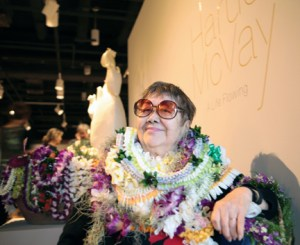 Harue McVay at the artist reception on Oct. 25 at the Gallery 'Iolani – Bonnie Beatson
