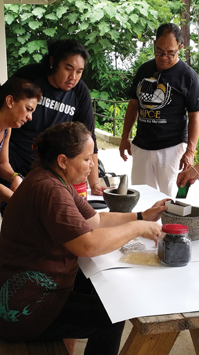 Kumu Bright teaches students about traditional medicines.– Tammy Pratt