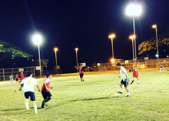 Students competed in soccer in past semesters at Moanalua Community Park in Salt Lake – Courtesy of Makana Tani