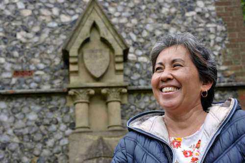 Colette Higgins visits Pinebanks Tower that Queen Kapi'olani climbed in 1887 – Courtesy ofColette Higgins
