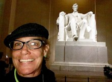 Cynthia Lee Sinclair reflects on Trump at the Lincoln Memorial - Courtesy of Cynthia Lee Sinclair