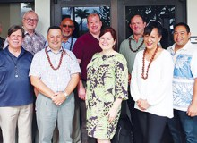 Members of Halau Ola Honua grant project meet to discuss indigenous environmental science – Courtesy of Sky Bruno
