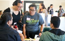 Kahikina Wise discusses transfer requirements with UH Manoa representatives –Ka 'Ohana News Staff