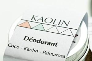Déodorant solide naturel zéro déchets
