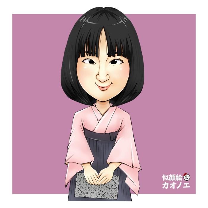 太田上田の似顔絵イラスト(木本景子さん)