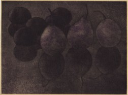 Mezzotint・Aquatint・Two plates two colors・Gampi-Paper(Mino) メゾチント・アクアチント・2版2色・雁皮刷り・美濃和紙 image size H11.9cmxW16cm ed.30 2011