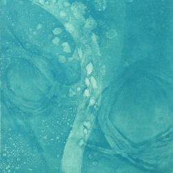 Flowing-3BL1 Etching・Drypoint・ Aquatint・BFK Rives・Gampi-Paper(Mino) エッチング・ドライポイント・アクアチント・BFK紙・雁皮刷り・美濃和紙 image size H30cmxW27.4cm ed.12 2017